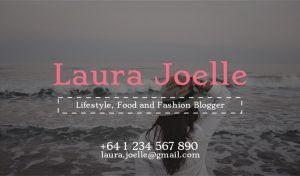 Blogger Business card template