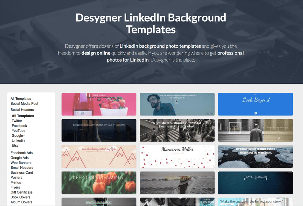 LinkedIn Cover Photo templates