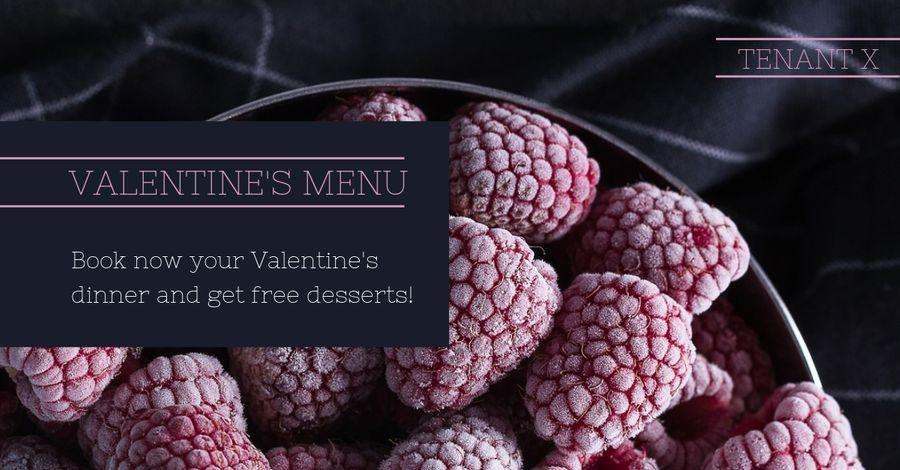 Valentines Day Menu Template Example