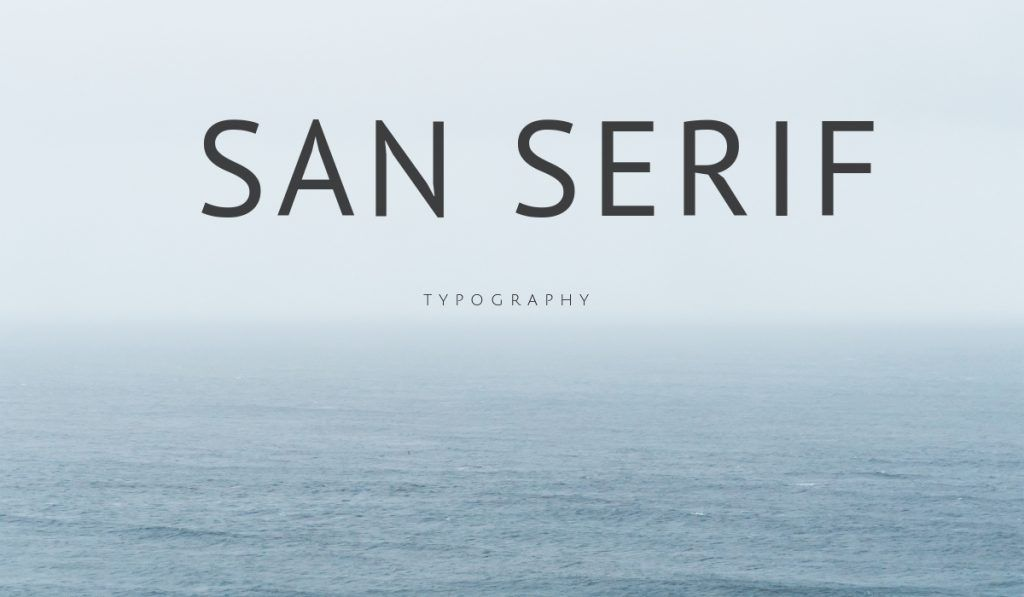 Sans Serif Design example