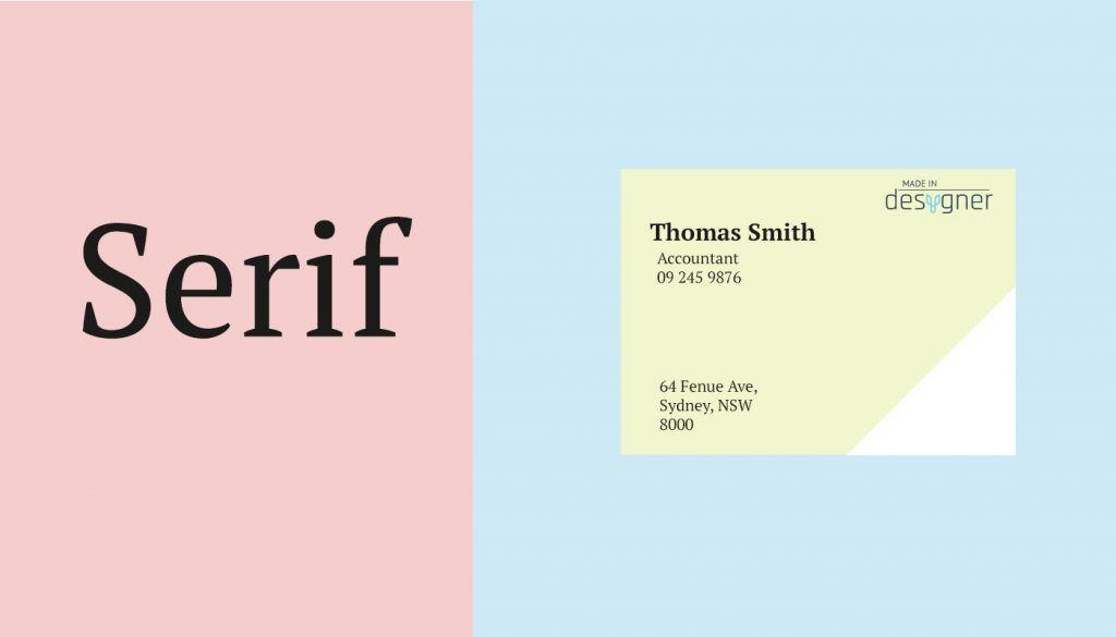 Serif Design Example