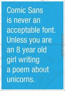 Comic Sans funny