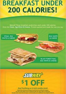 Subway Flyer marketing