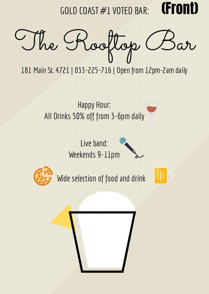 Example Island Rooftop Bar Flyer