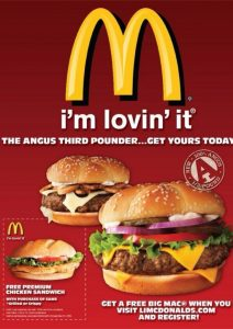Mcdonalds flyer ad