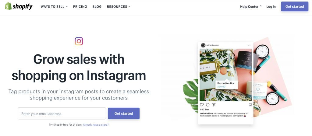 Shopify Instagram Business