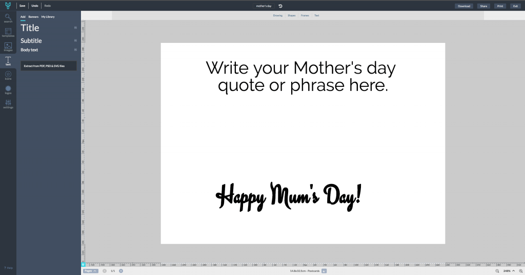 Design Mother's Day Card how to