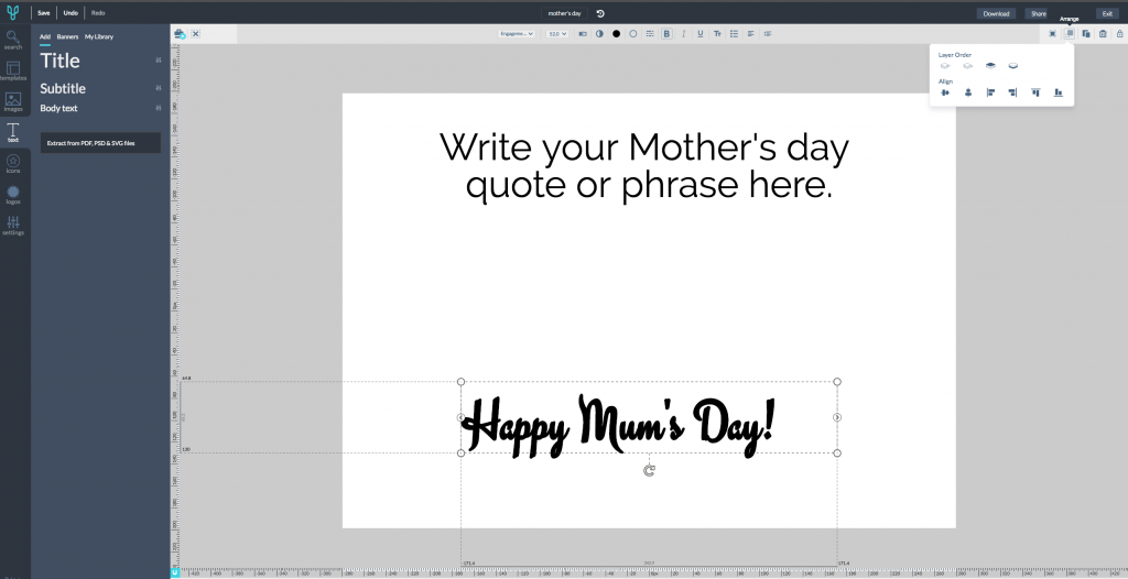 Design Mother's Day Card