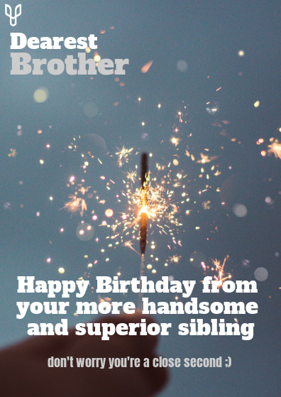 Brother Birthday Card Template