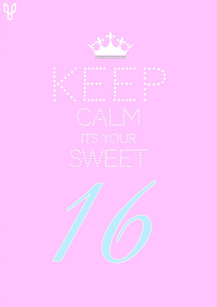Sweet 16 Birthday Card Template