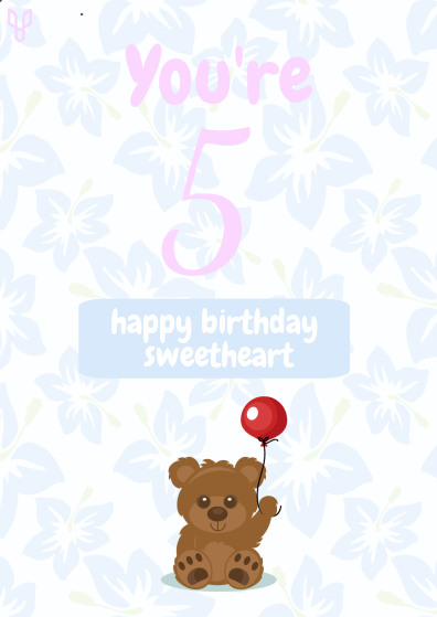 Child Birthday Card Template