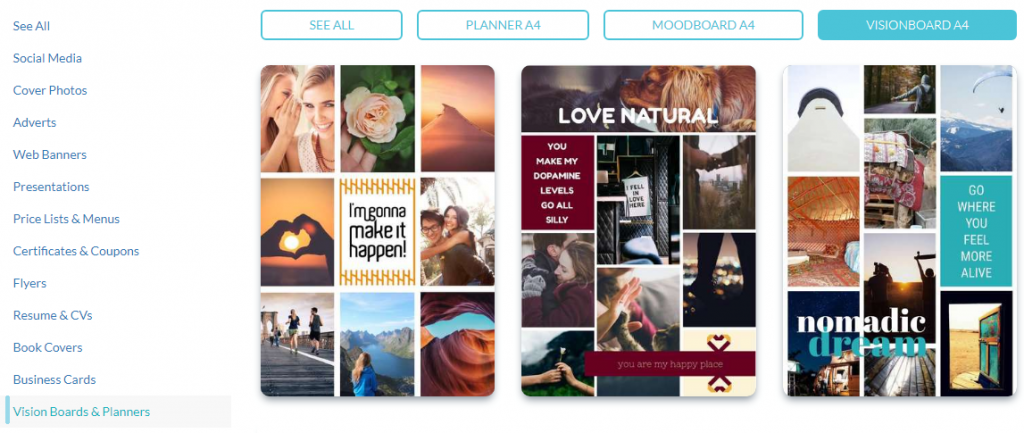 vision board templates