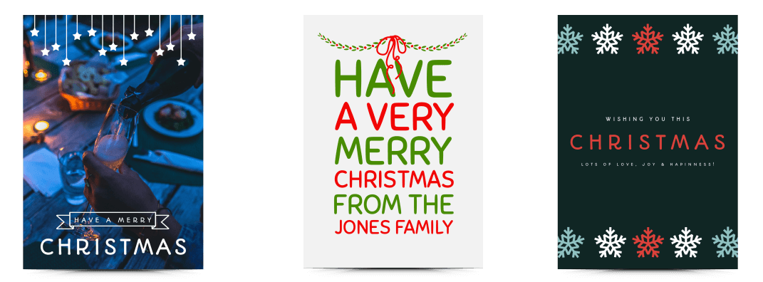 Choose from a selection of Christmas card templates on Desygner
