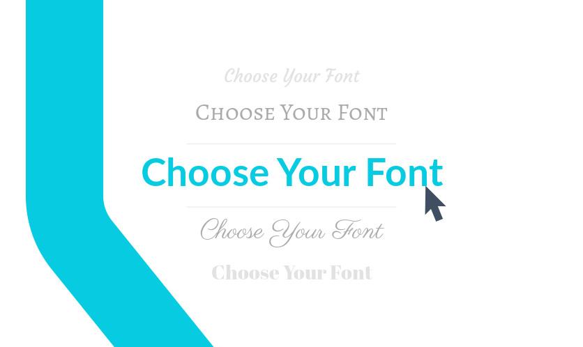 Choose a flyer font