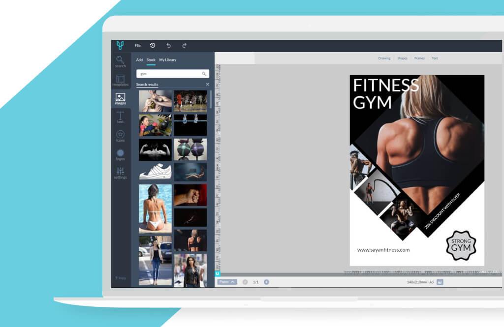 Make a flyer online with Desygner