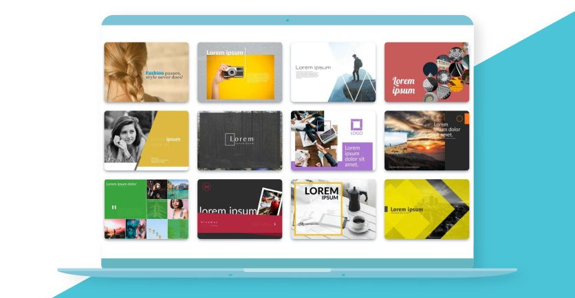 Browse through the presentation templates on Desygner