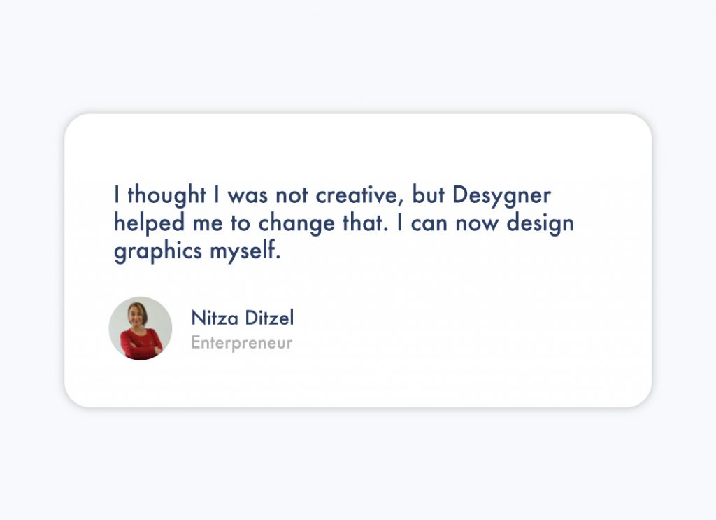 A review of Desygner from Nitza Ditzel