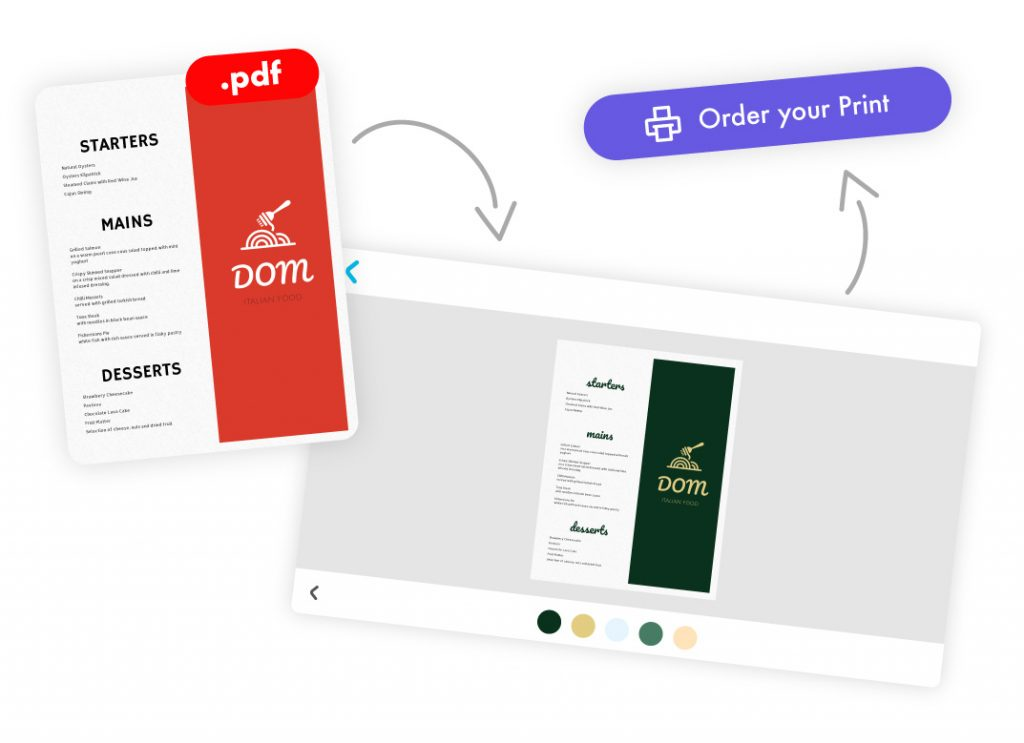 Import Menu PDFs