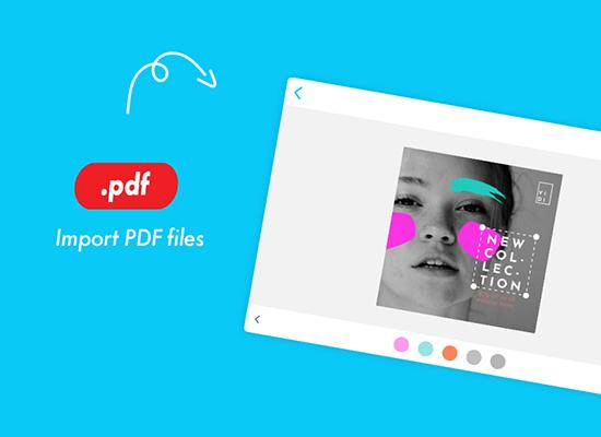Import and edit PDF files