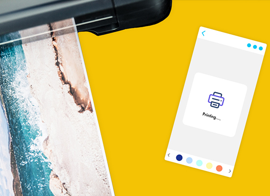 Print your designs from your mobile or desktop
