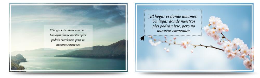 crear imágenes con frases