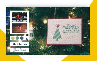 Un usuario está cambiando el color de una tarjeta de navidad