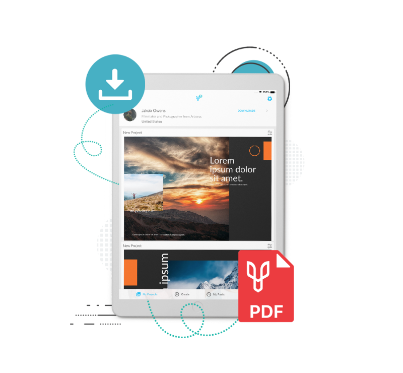 crie apresentação no iPad
