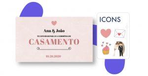 ícones para convite de casamento
