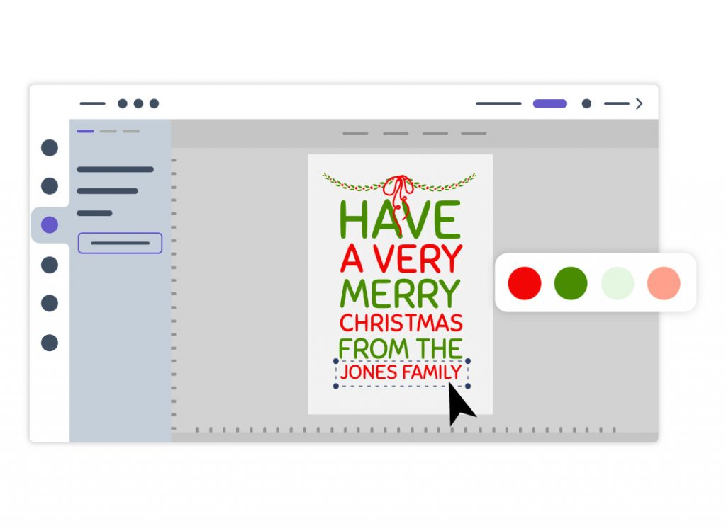 Editor para imprimir cartões de Natal