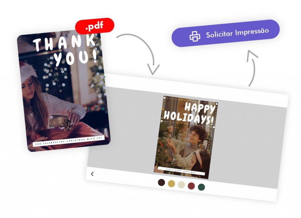 Imprimir cartões de Natal