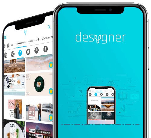 Desygner's App mockup