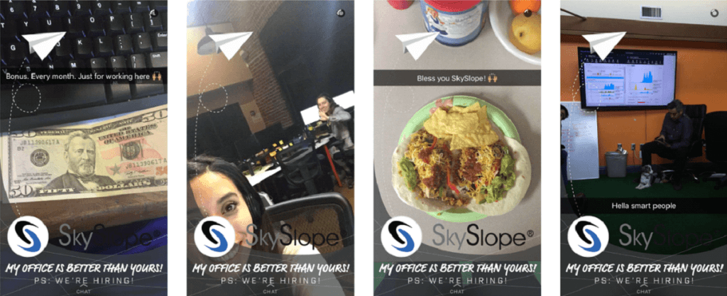 créer un filtre snapchat